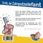 Preview: Back Cover: Erwin, der Zahnputzelefant - Mini-Bilderbuch