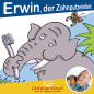 Preview: Front cover: Erwin, der Zahnputzelefant - Mini-Bilderbuch